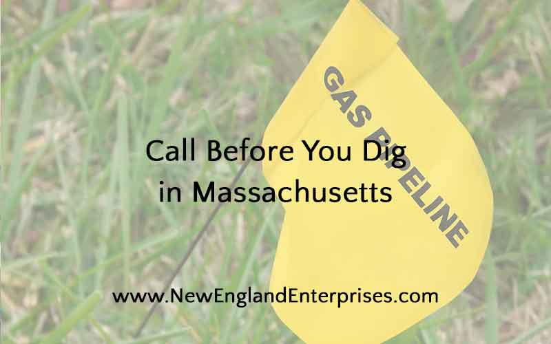 "A ""Call Before You Dig"" Dig Safe Marker for a Natural Gas Line."