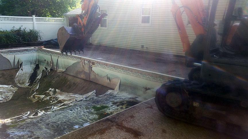 Hudson 01749 Pool Demolition, Fill, Yard Build