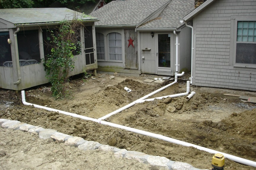 Landscaping Yard Drainage : Landscape drainage and grading new england enterprises