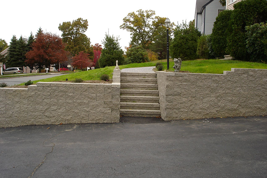 Retaining Wall Material Natural Stone Concrete Blocks Wood Timbers