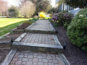 Old Walkway - Steps formed from railroad ties