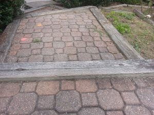Old Walkway - Sinking pavers in constant need of repair