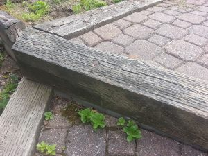 Old walkway - Pavers settling, creating a hazard