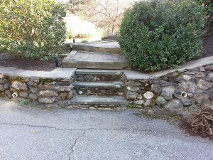 Old Walkway - Original retaining wall and steps