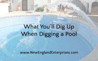 Digging a Pool, New England Enterprises, Marlborough, MA