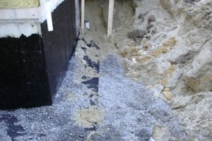 Foundation drain installed