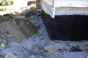Foundation drain, waterproof foundation