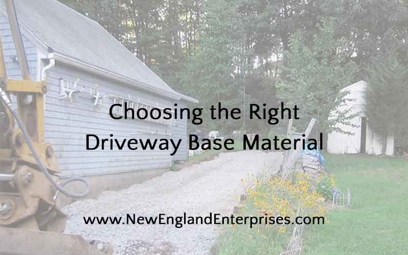 Choosing the Right Driveway Base Material