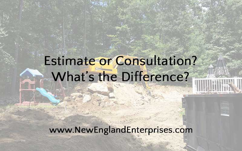 estimate or consultation - what's the difference?