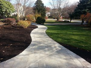 Curving, welcoming walkway