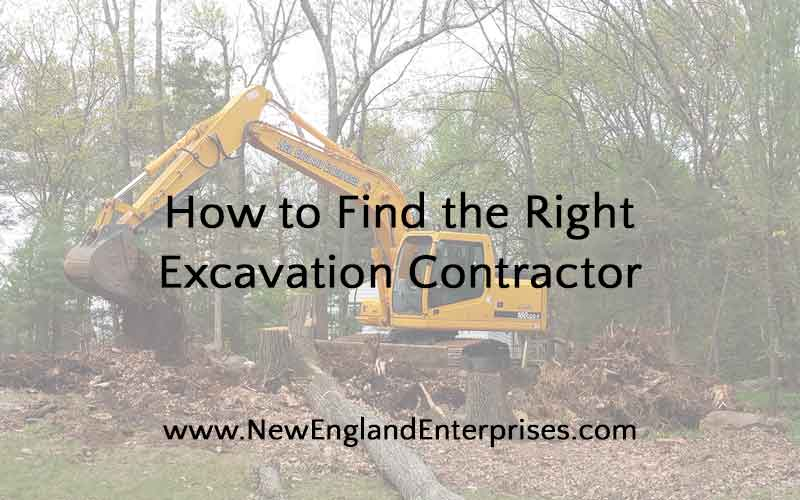 How to Find the Right Excavation Contractor