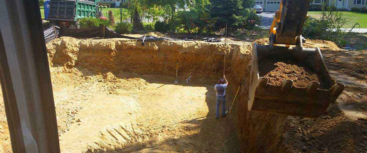 Foundation Excavation and Preparation - New Construction or Additions