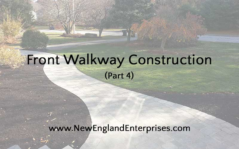 Front Walkway Construction