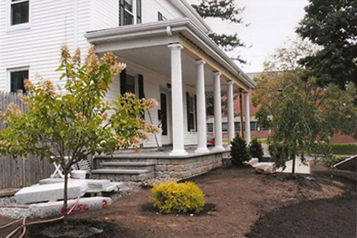 Rebuilt farmer's porch