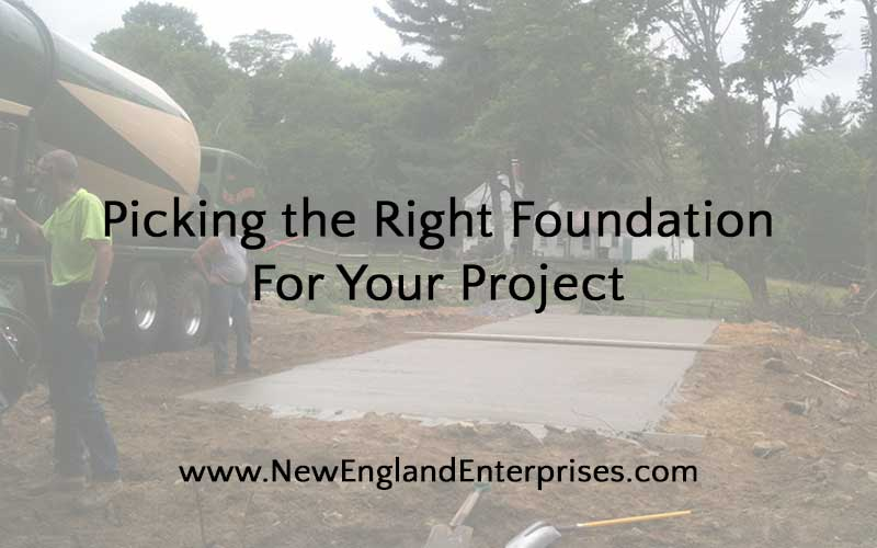 Picking the Right Foundation For Your Project