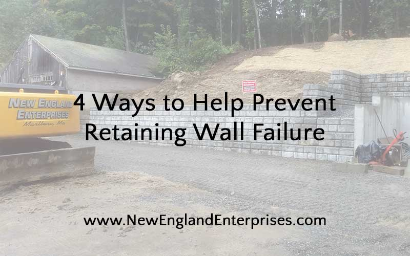 4 Ways to Help Prevent Retaining Wall Failure