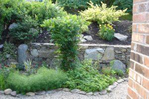 Landscaped Garden Retaining Wall