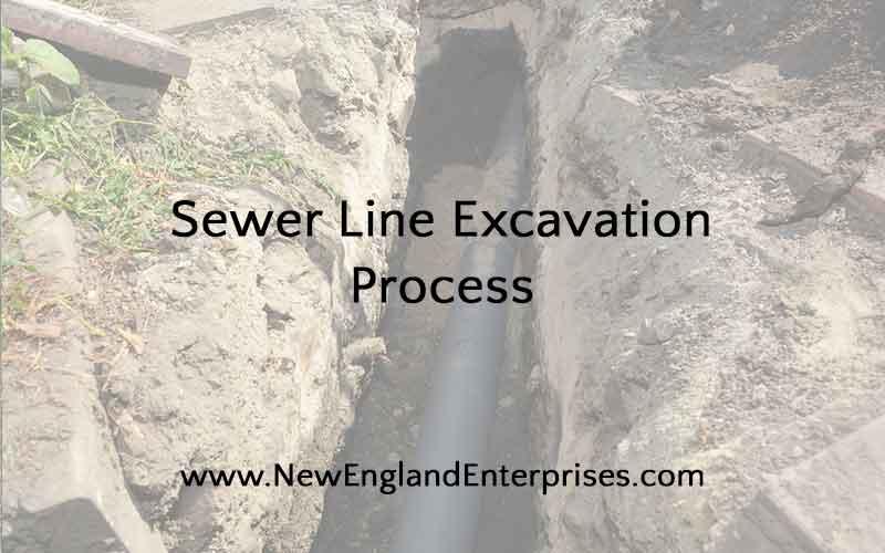 sewer line excavation process