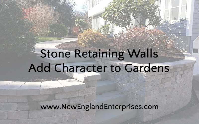 Stone Retaining Walls Add Character to Gardens